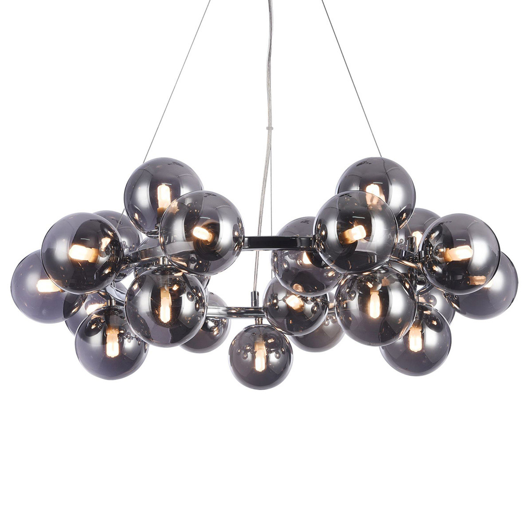 Ronde hanglamp Dallas, chroom