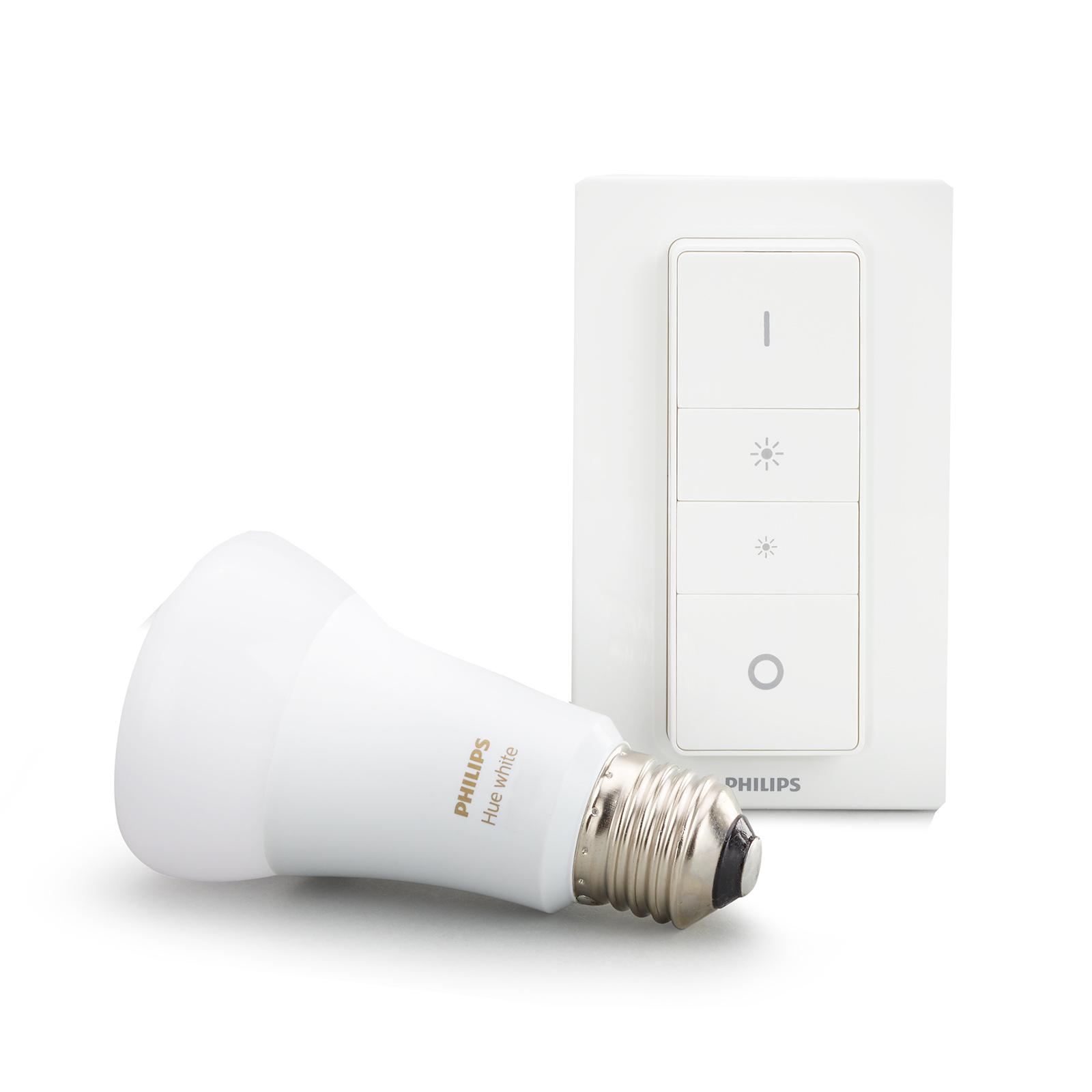 Philips Hue White 9W E27 interrupteur variateur