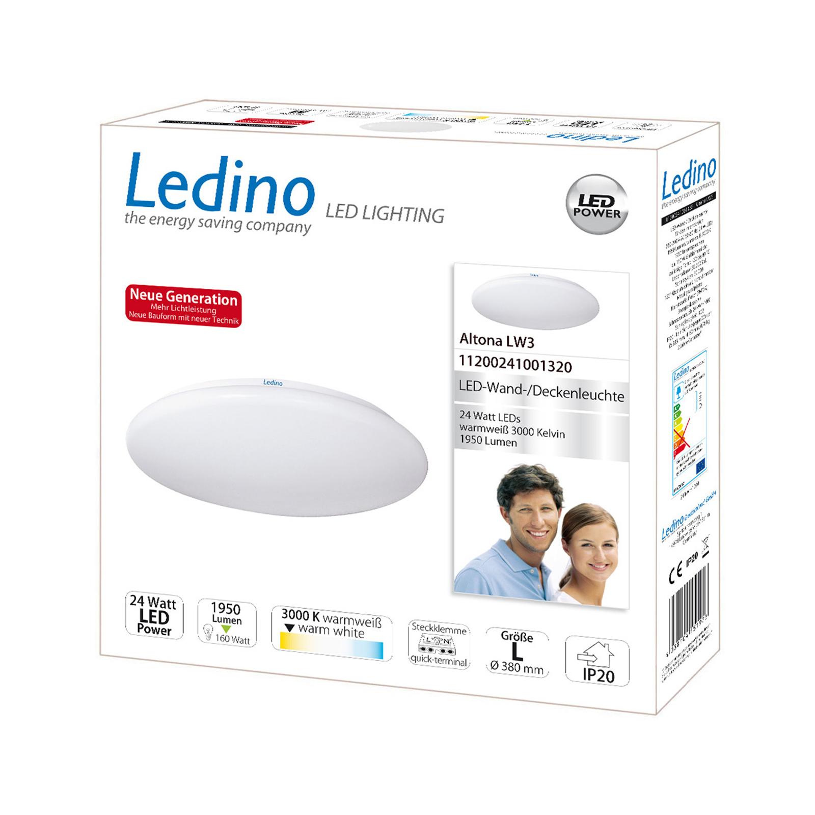 Lampa sufitowa LED Altona LW3 -ciepła biel Ø38,5cm