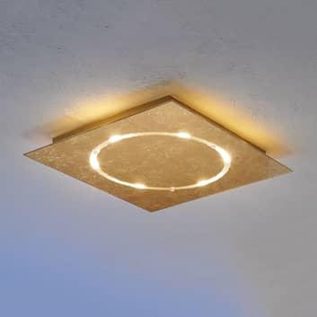 Dimbare led-plafondlamp Skyline met bladgoud