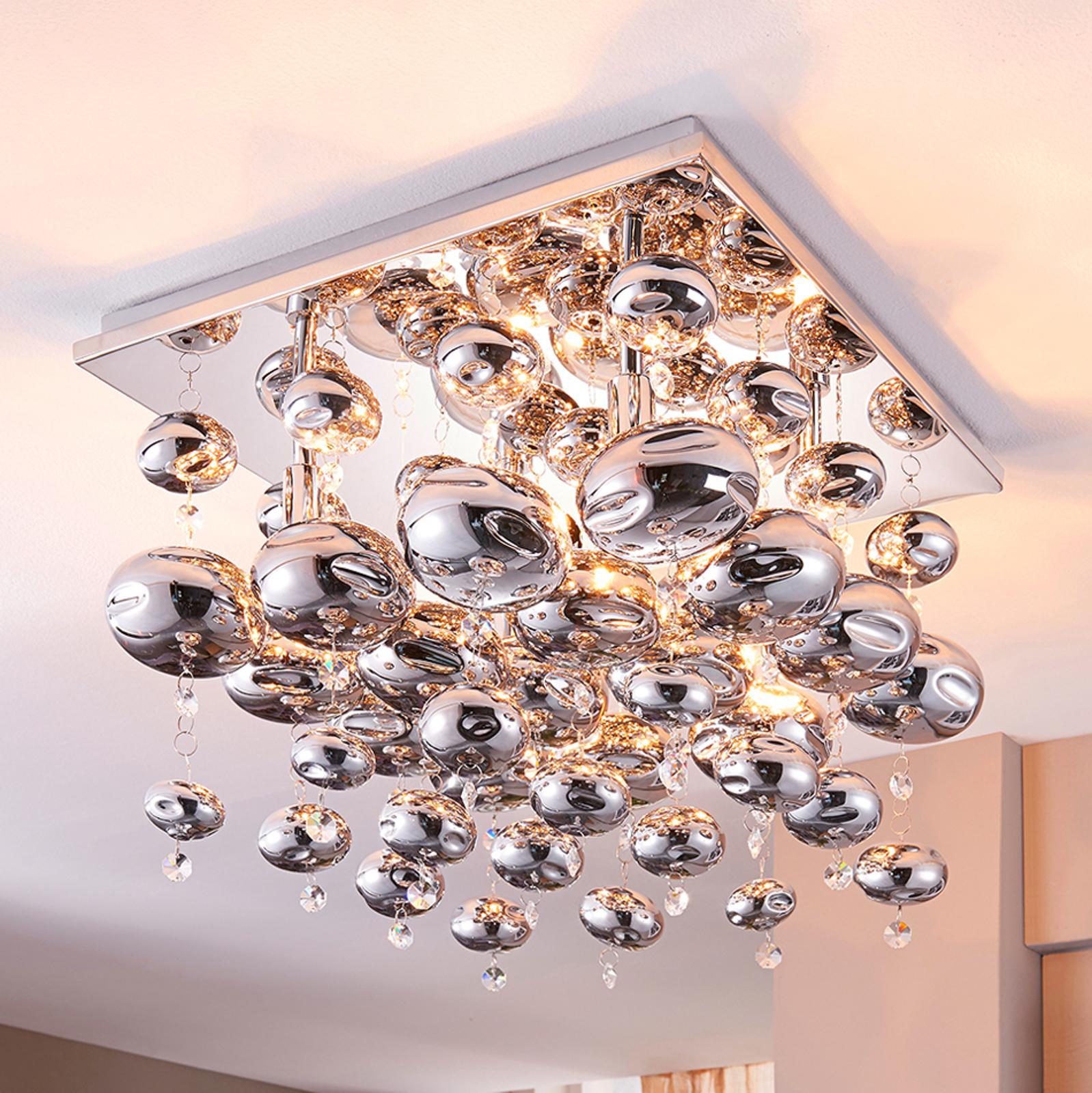 Esfera - taklampa behängd med glaskulor