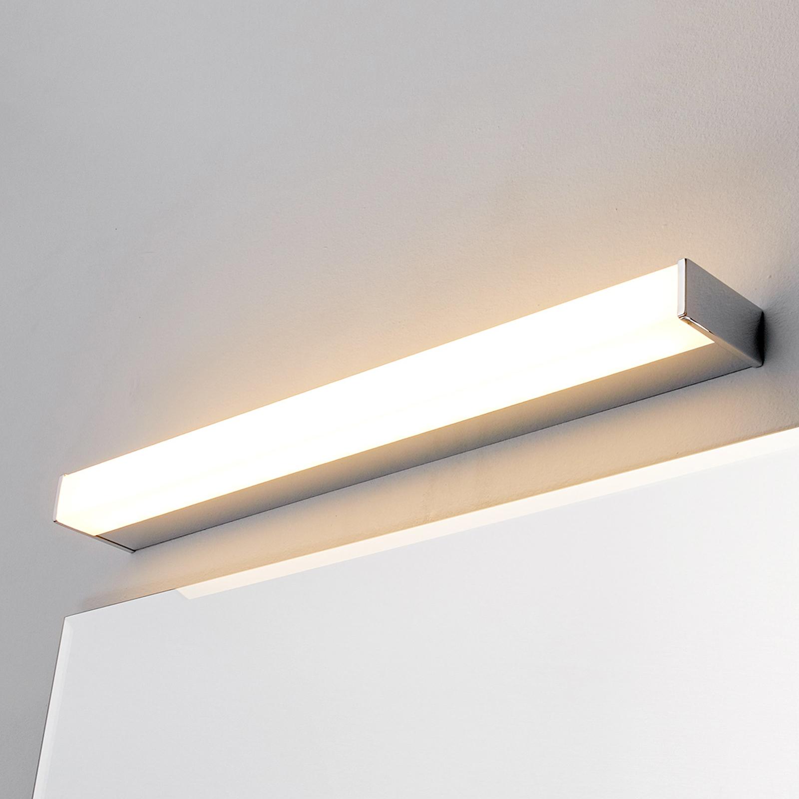 Applique miroir bain LED Philippa angulaire 58,8cm