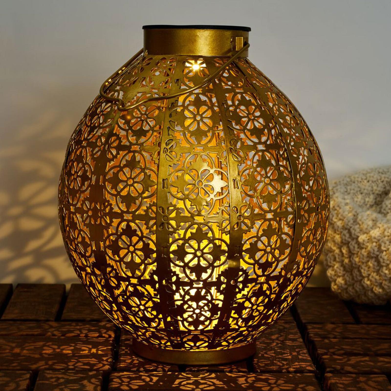 Pauleen Sunshine Aura LED-solcelle-lykt i gull