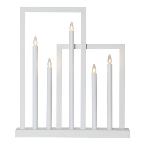 Raam kandelaar Frame van hout, 5-lamps