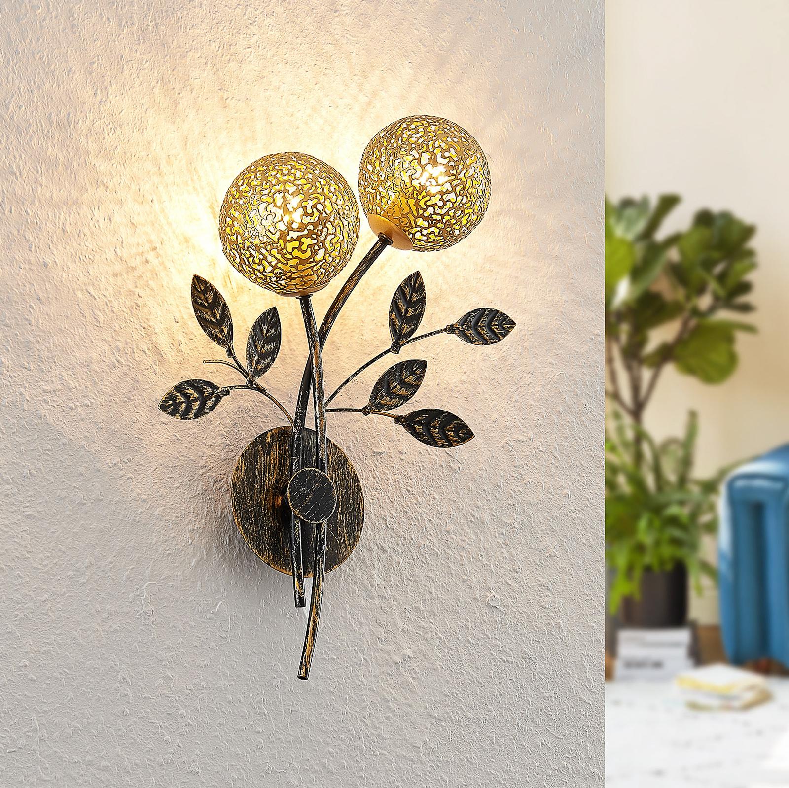 Lucande Evory lampa ścienna, 2-punktowa