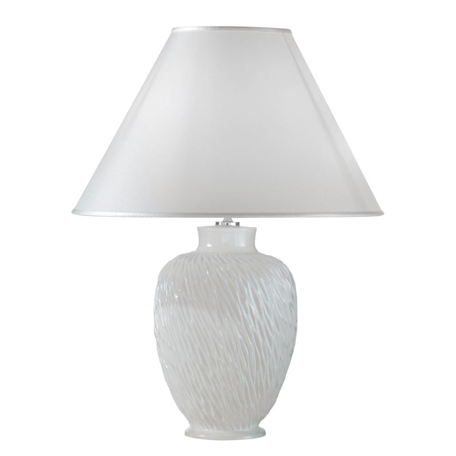 Tafellamp Chiara van keramiek, in wit, Ø 40 cm