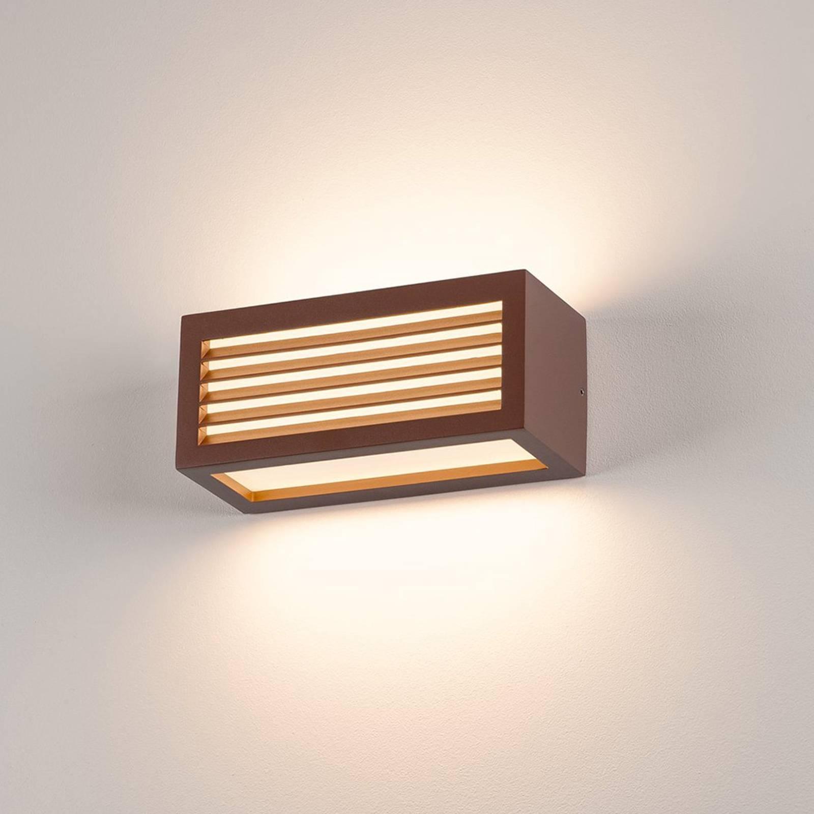 SLV Box-L LED-Wandleuchte, rost, direkt/indirekt