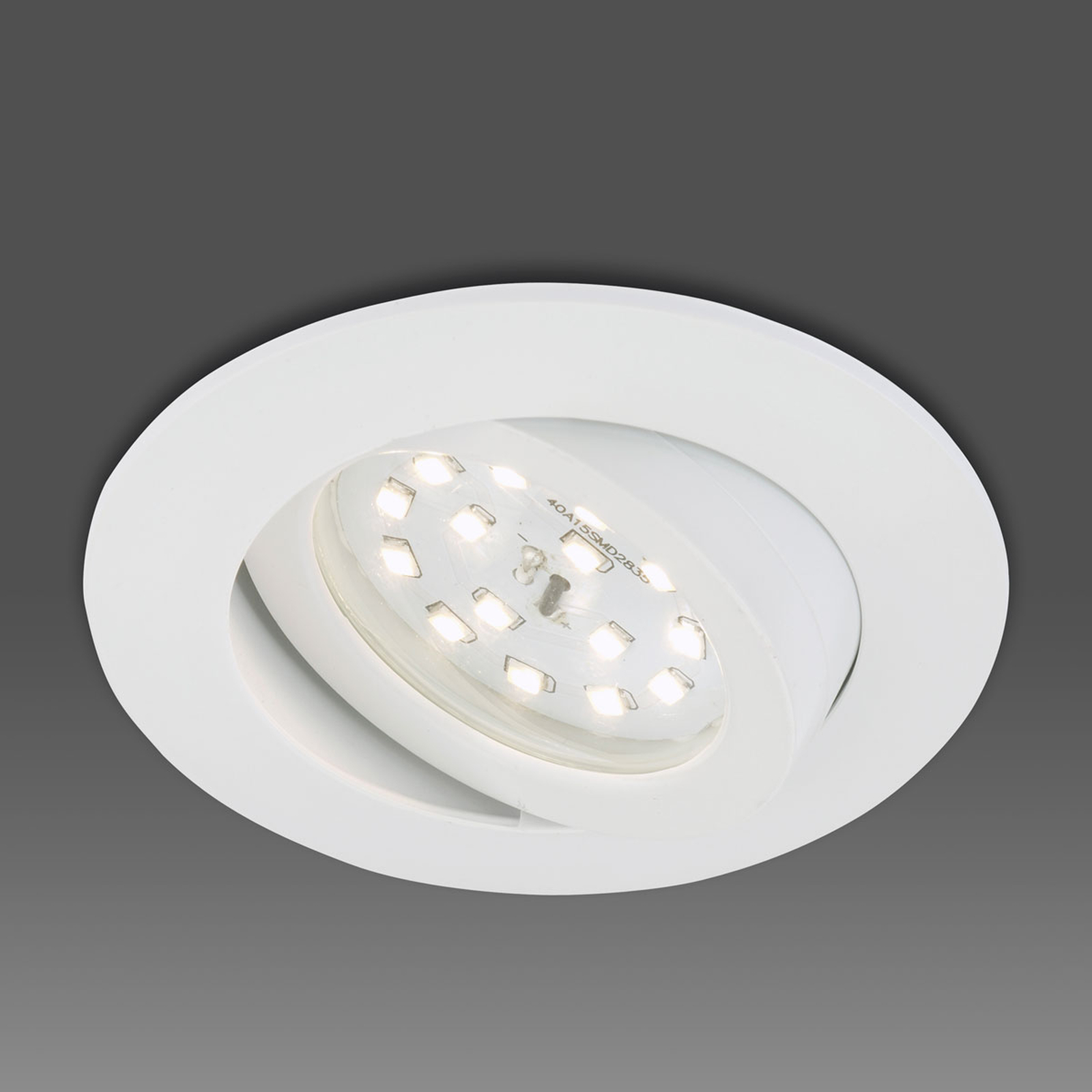 Schwenkbarer LED-Einbaustrahler Erik weiß