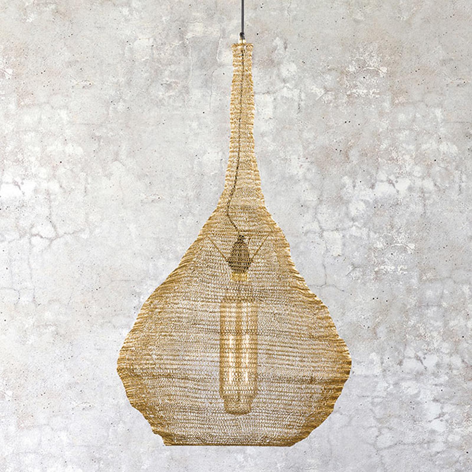 Suspension abat-jour cage Ano doré Ø 47cm