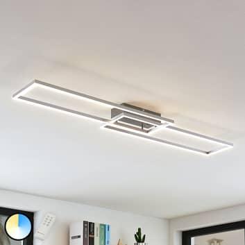 LED plafondlamp Quadra, dimbaar, 2 lampen, 110 cm