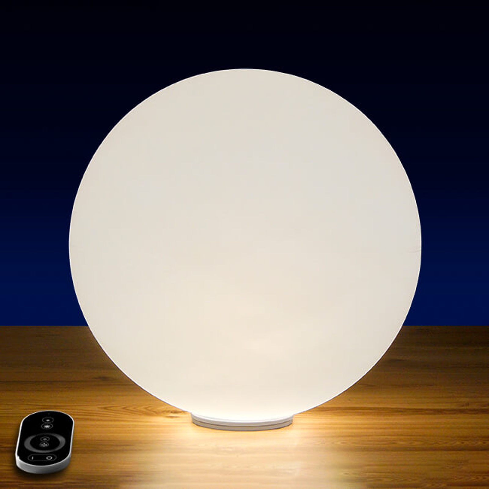 Dimbar LED-kulelampe Snowball med batteri 30 cm