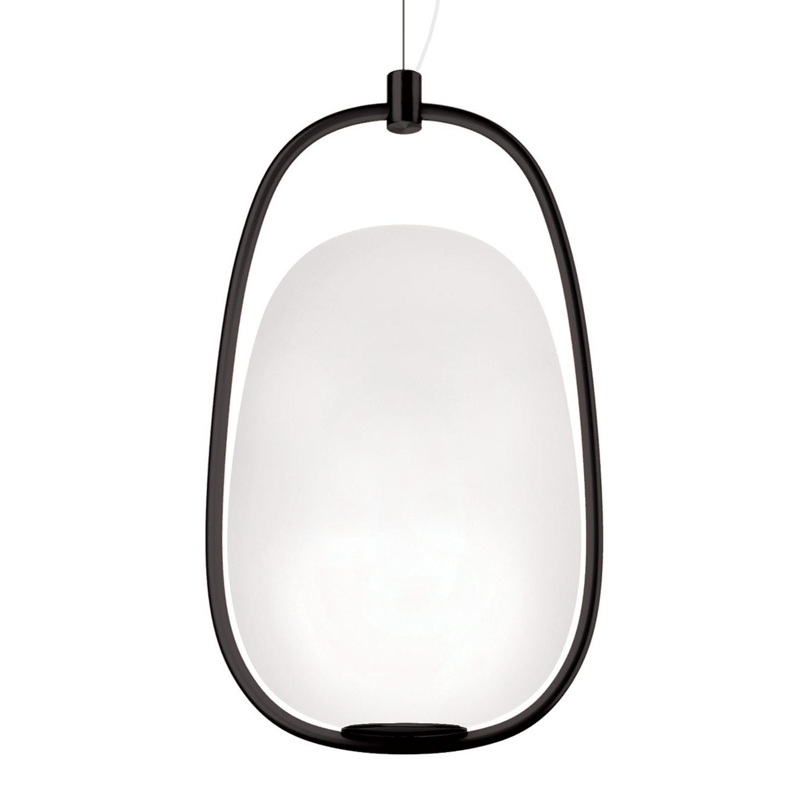 Lampa wisząca Kundalini Lannà, czarna/biała