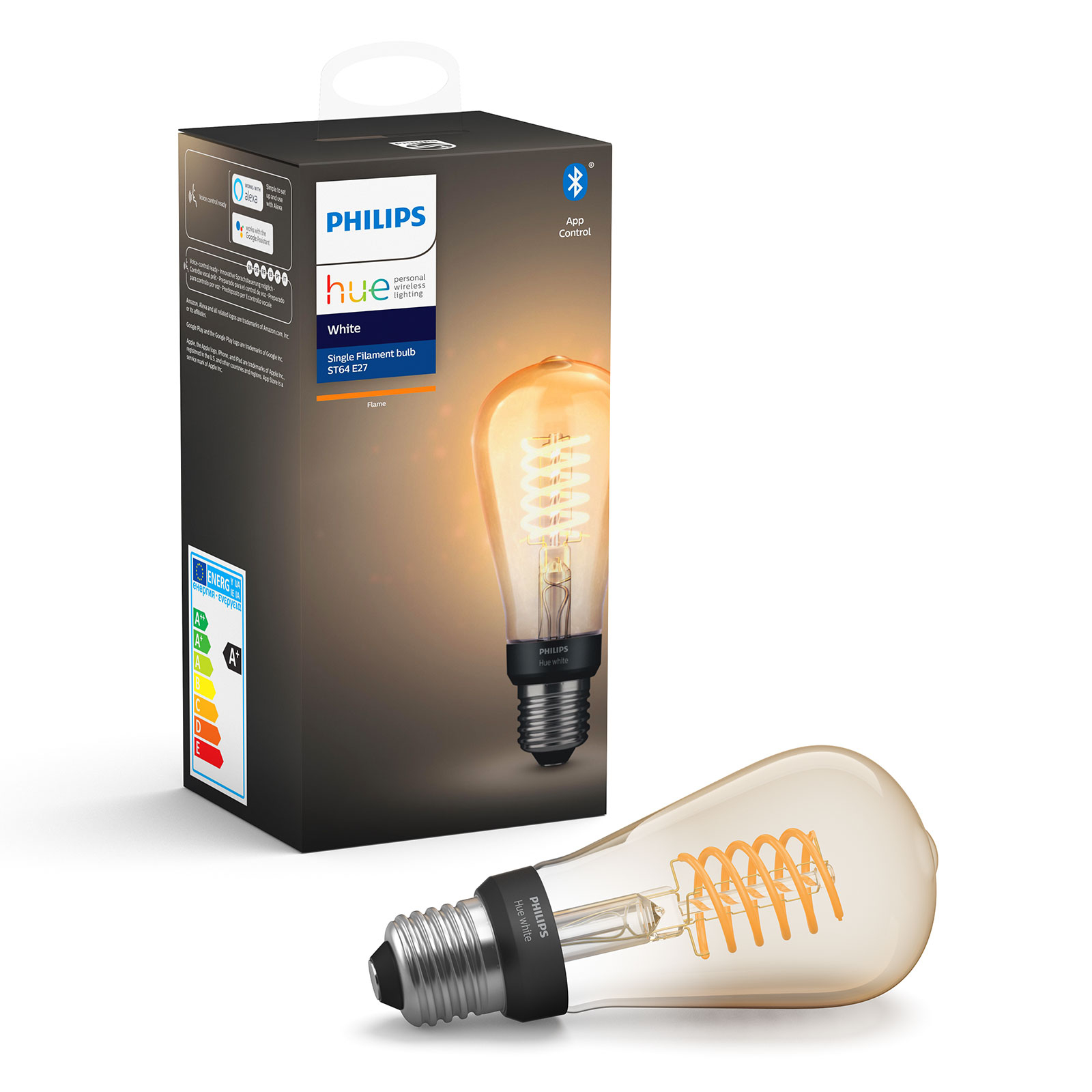 Philips Hue White E27 filamenttilamppu RustikaST64