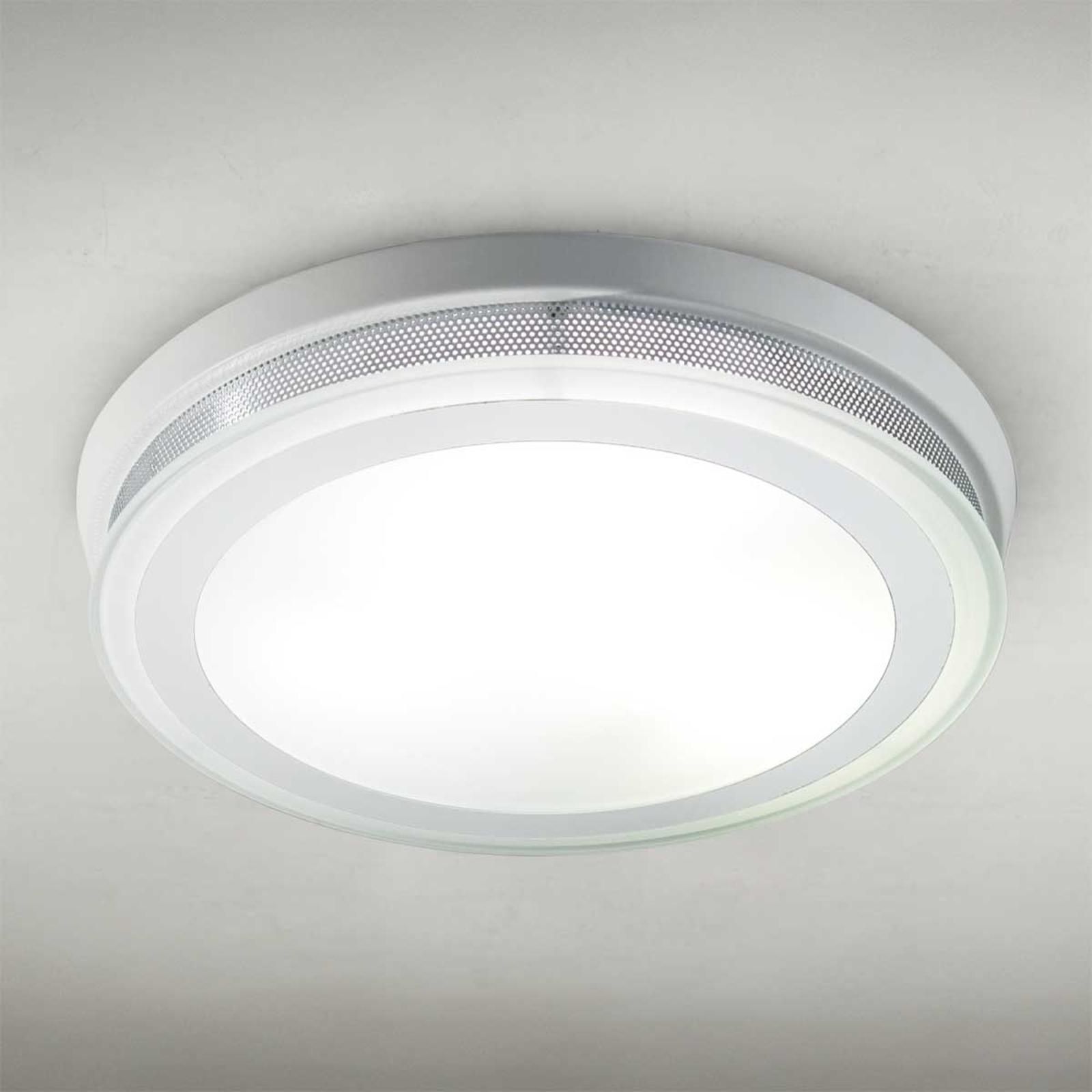 Rund taklampe RING 9115, hvit, 37cm