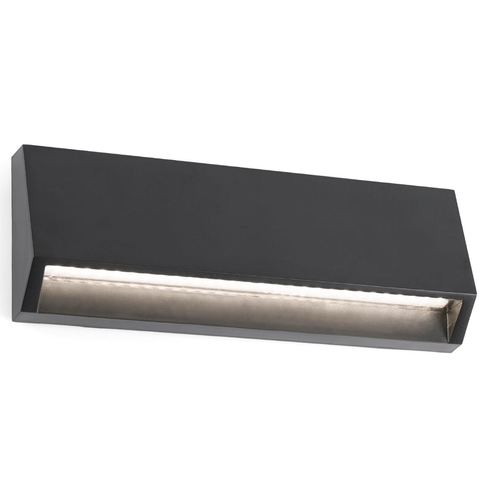 Hoekige LED buitenwandlamp Must - 21,7 cm