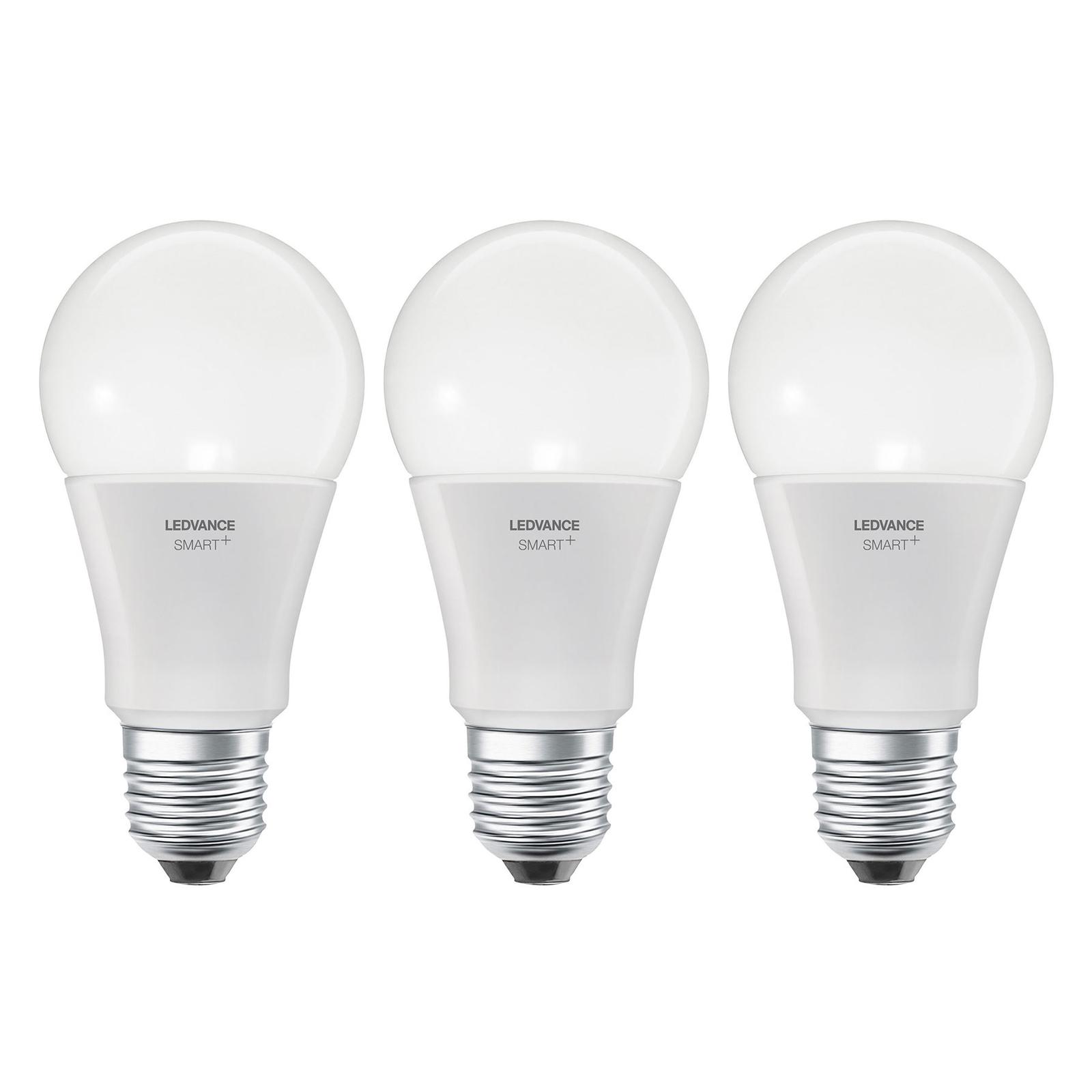 LEDVANCE SMART+ WiFi E27 9 W Classic CCT 3-pack