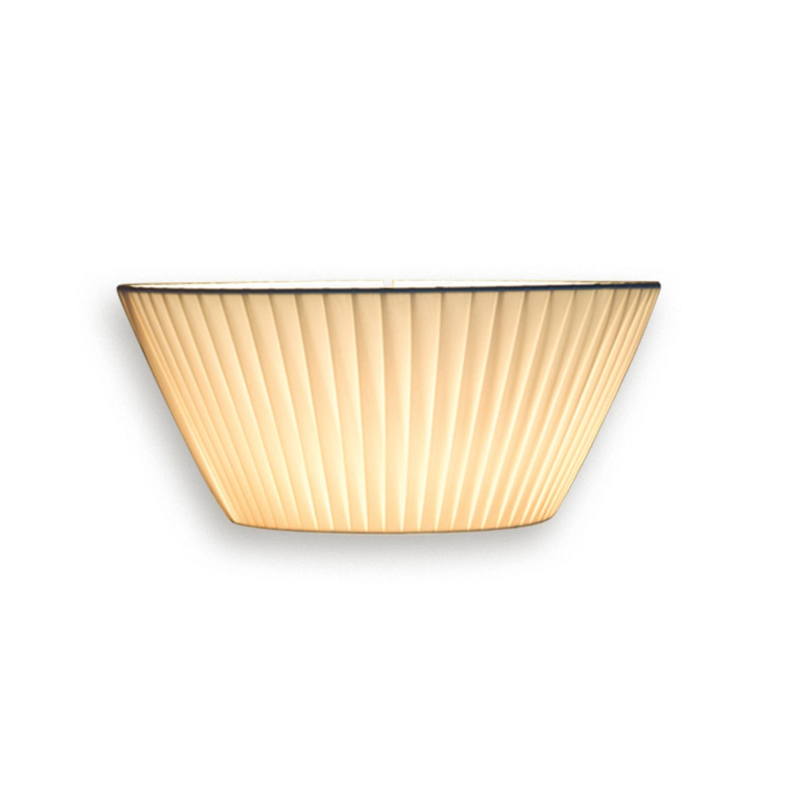 Opvallende wandlamp Emma, 30 cm breed, beige