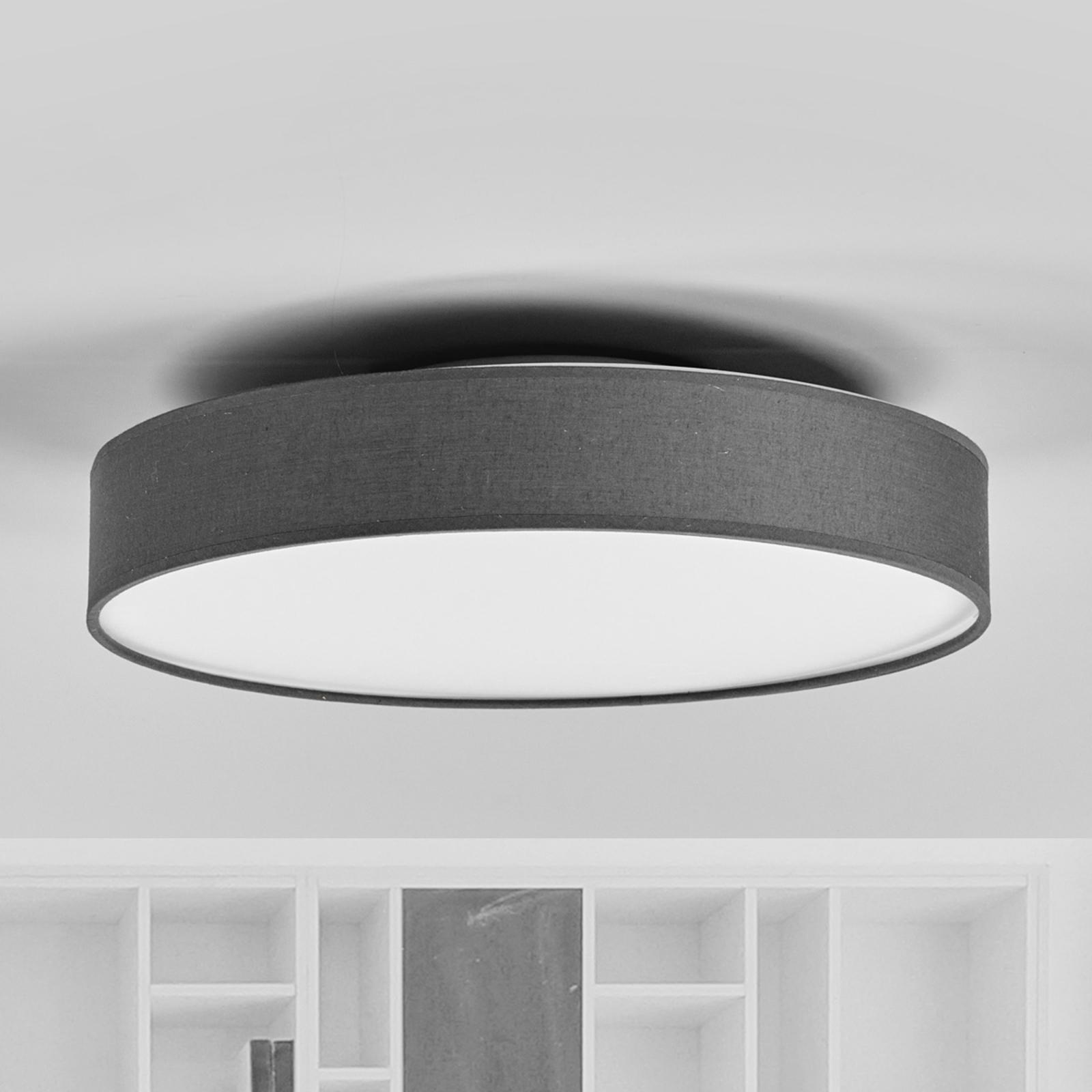 LED-Stoffdeckenlampe Saira, 40 cm, grau