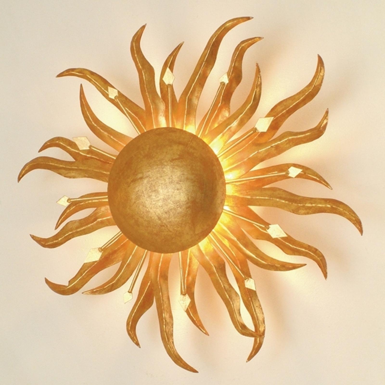 Fascinerende SONNE GOLD vegglampe  45 cm