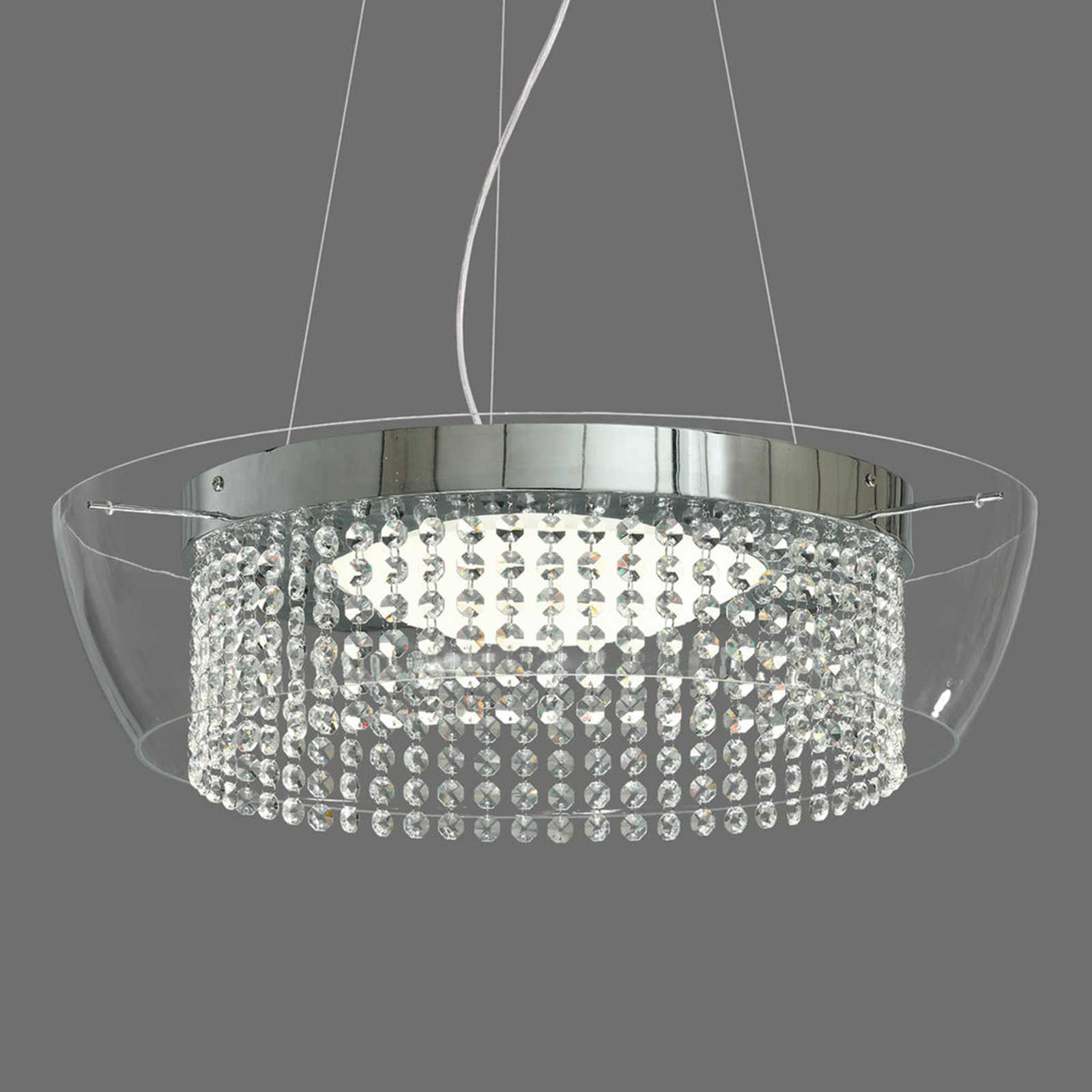 Ital - suspension LED avec cristaux