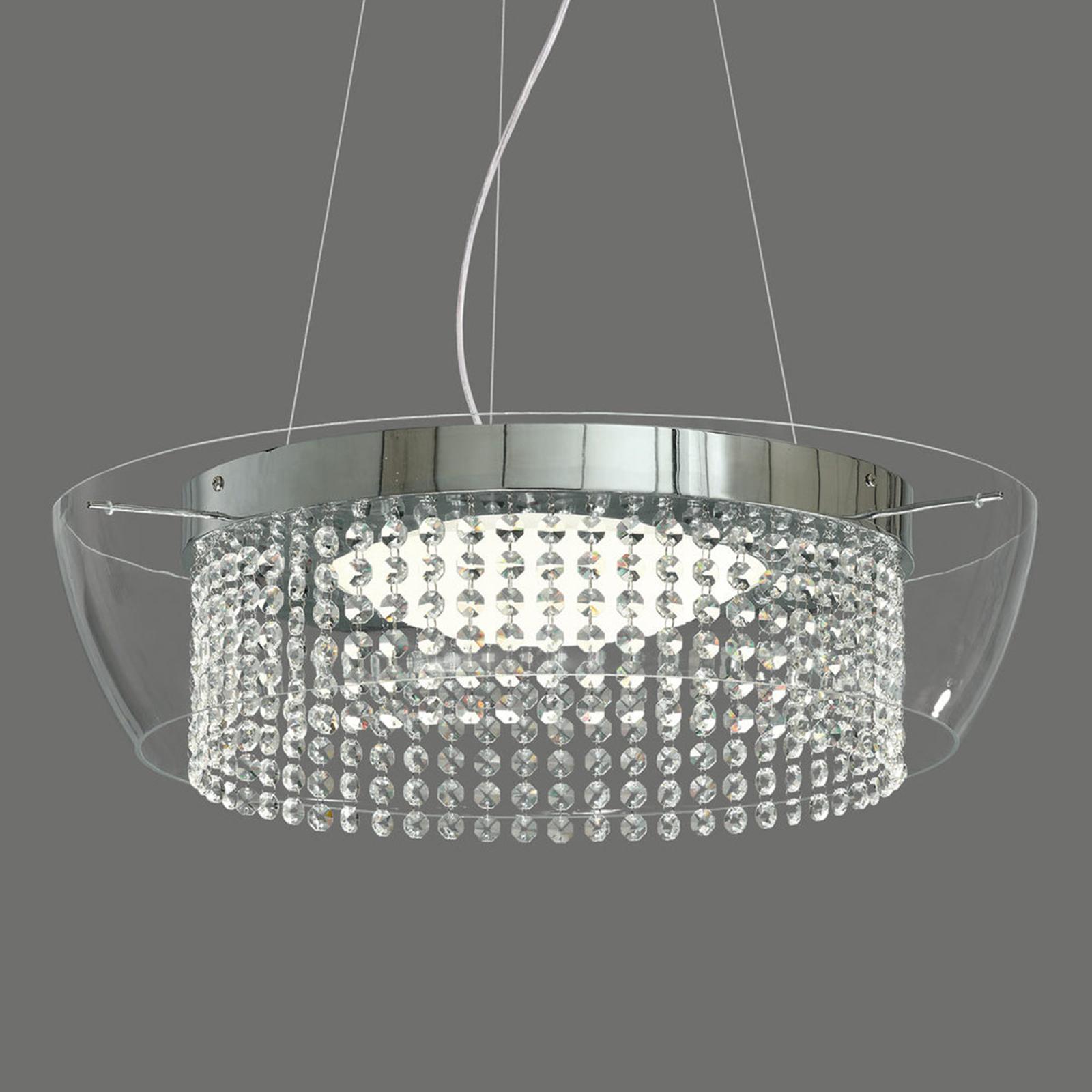 Ital - LED-Pendelleuchte mit Kristallen