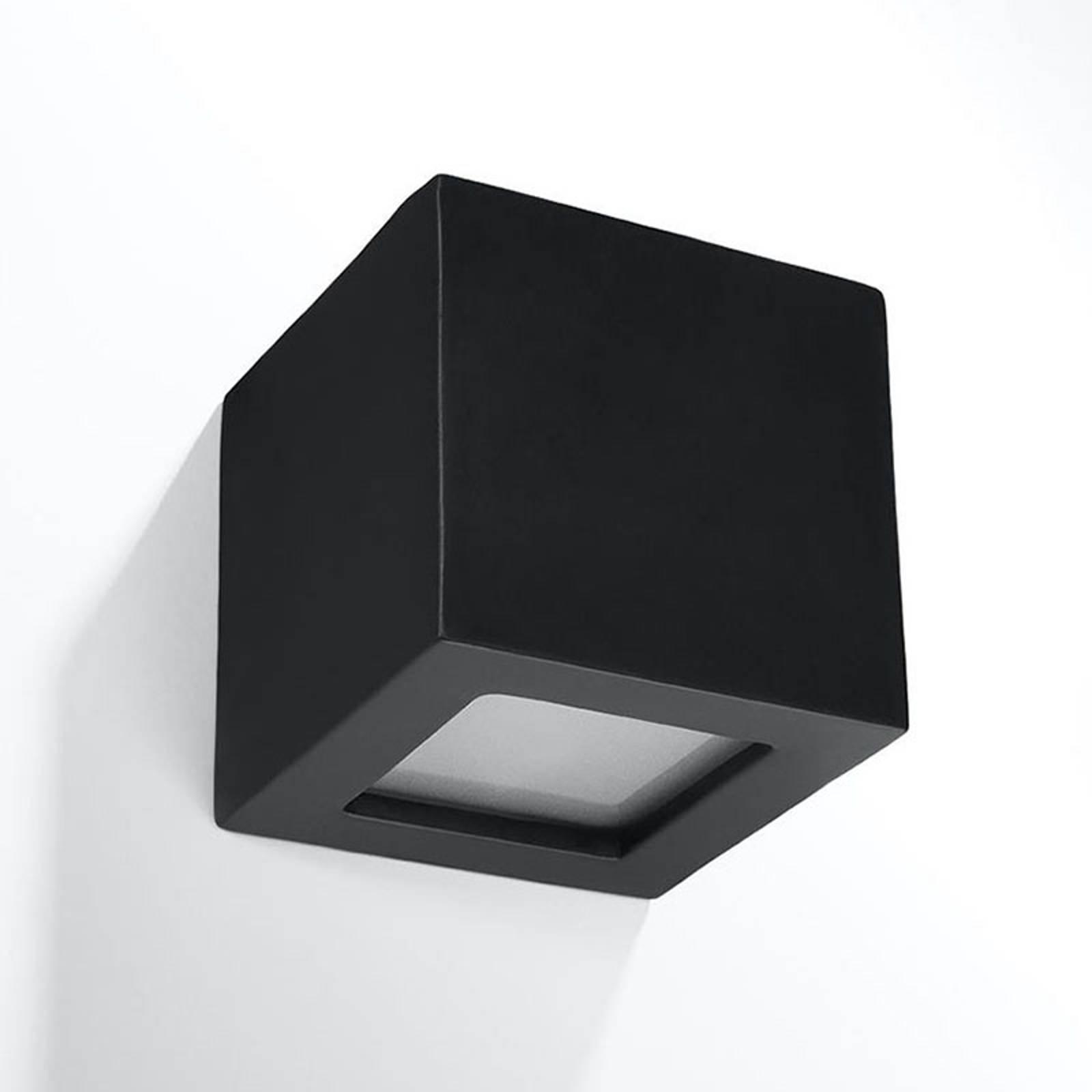 Wandleuchte Top aus Keramik, up/down, schwarz