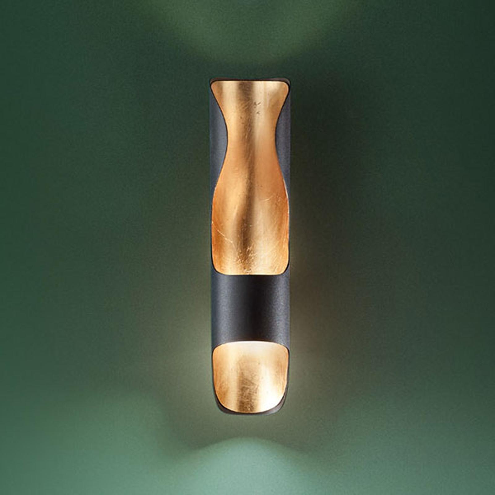 Aplique LED Kant, negro-oro