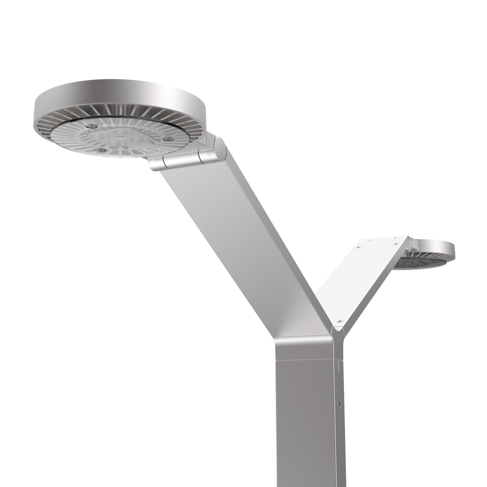Luctra Floor Twin Radial lampa stojąca aluminium