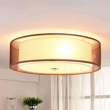 Lampada LED da soffitto Tobia marrone easydim