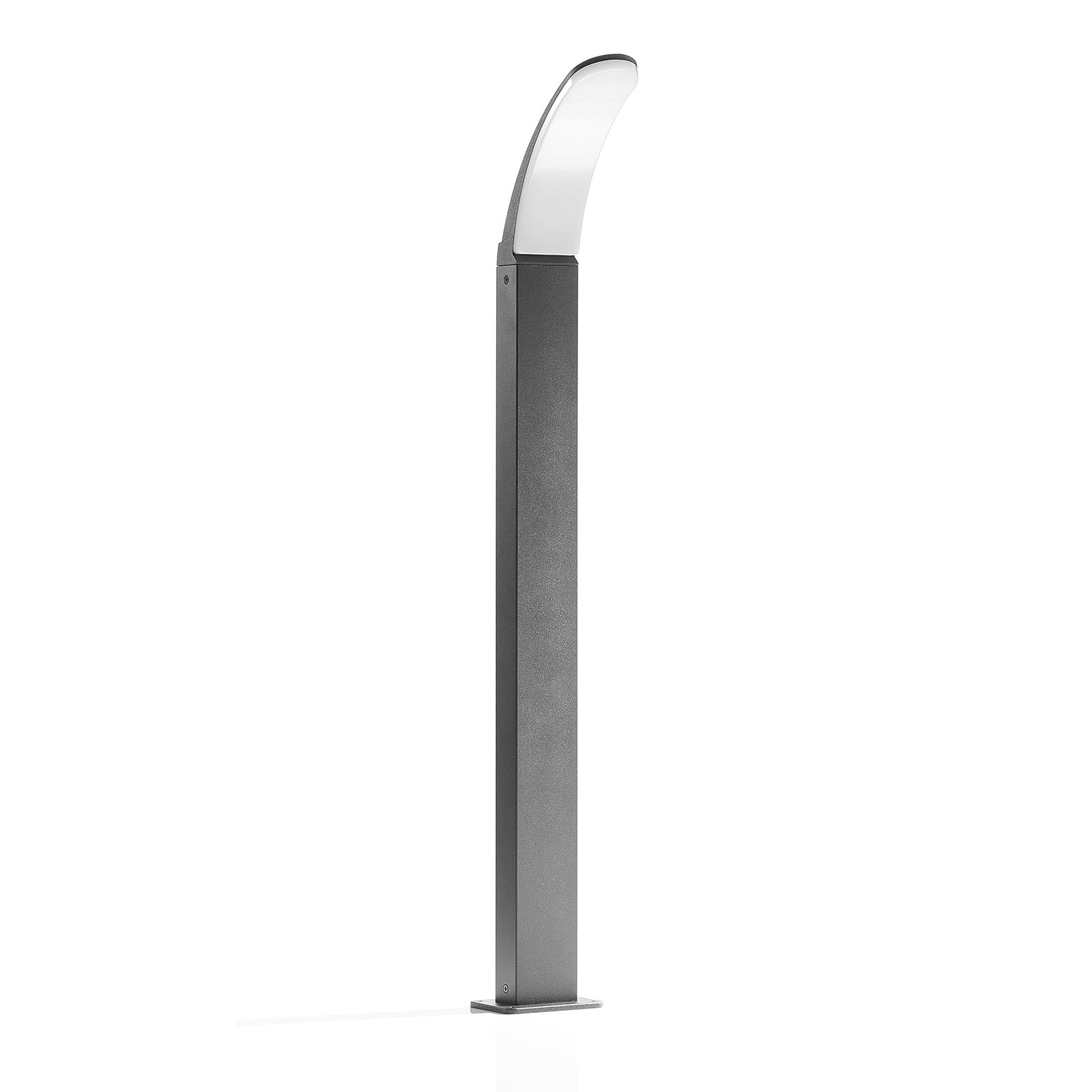 LED-Wegelampe Fiumicino in gebogener Form