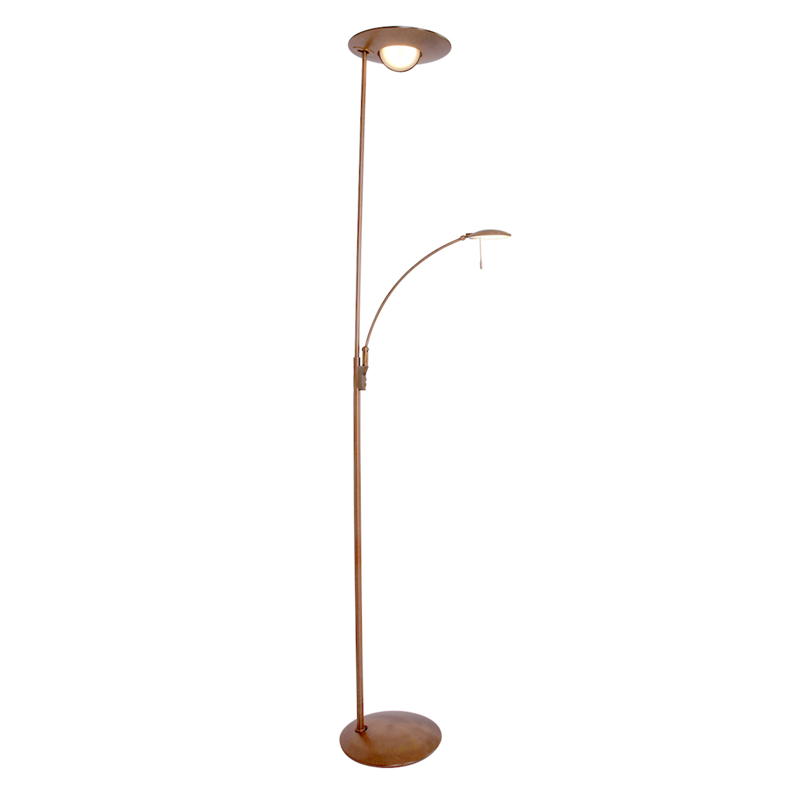 Bronskleurige LED vloerlamp Zenith, dimmer