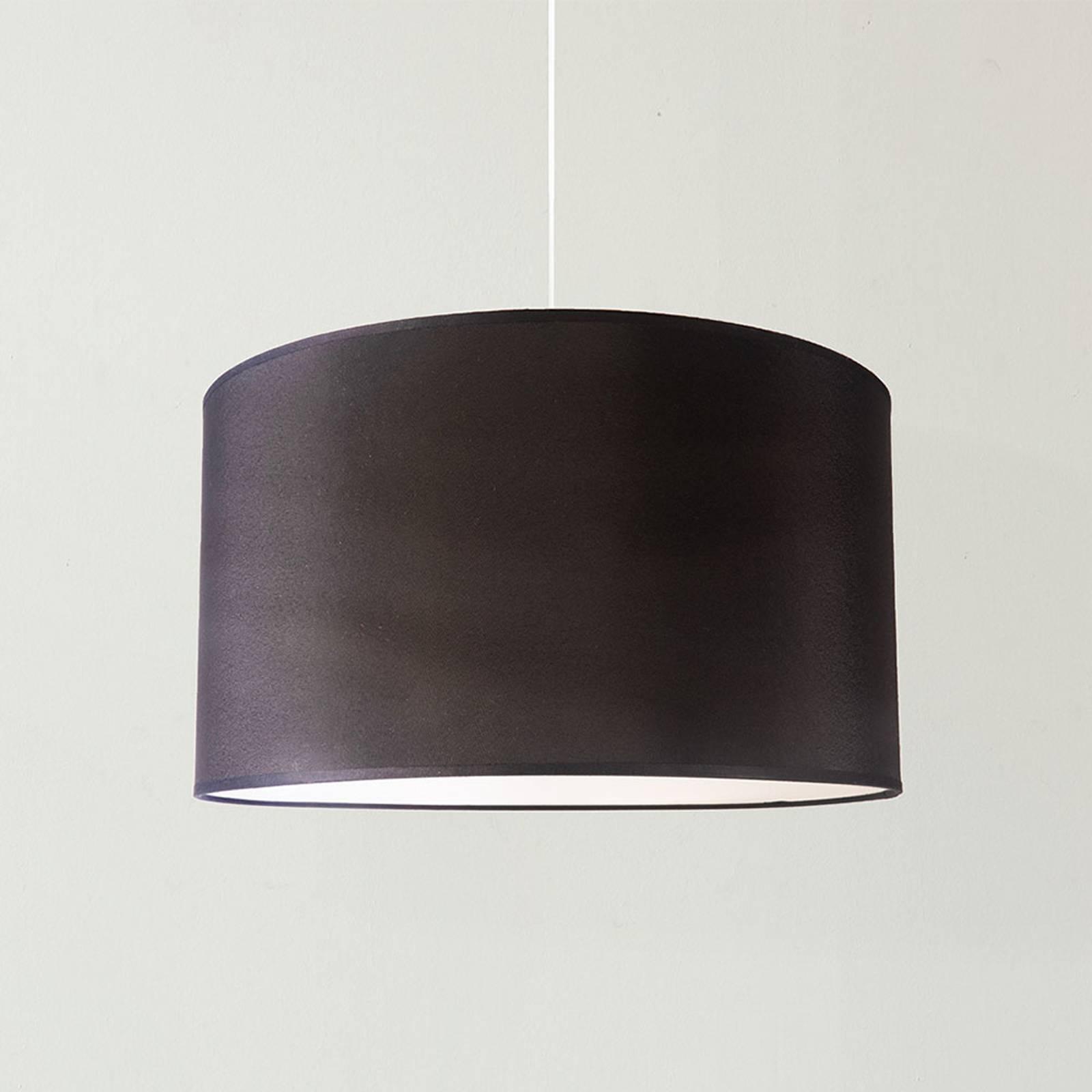 Hängeleuchte Dorset aus Textil, schwarz