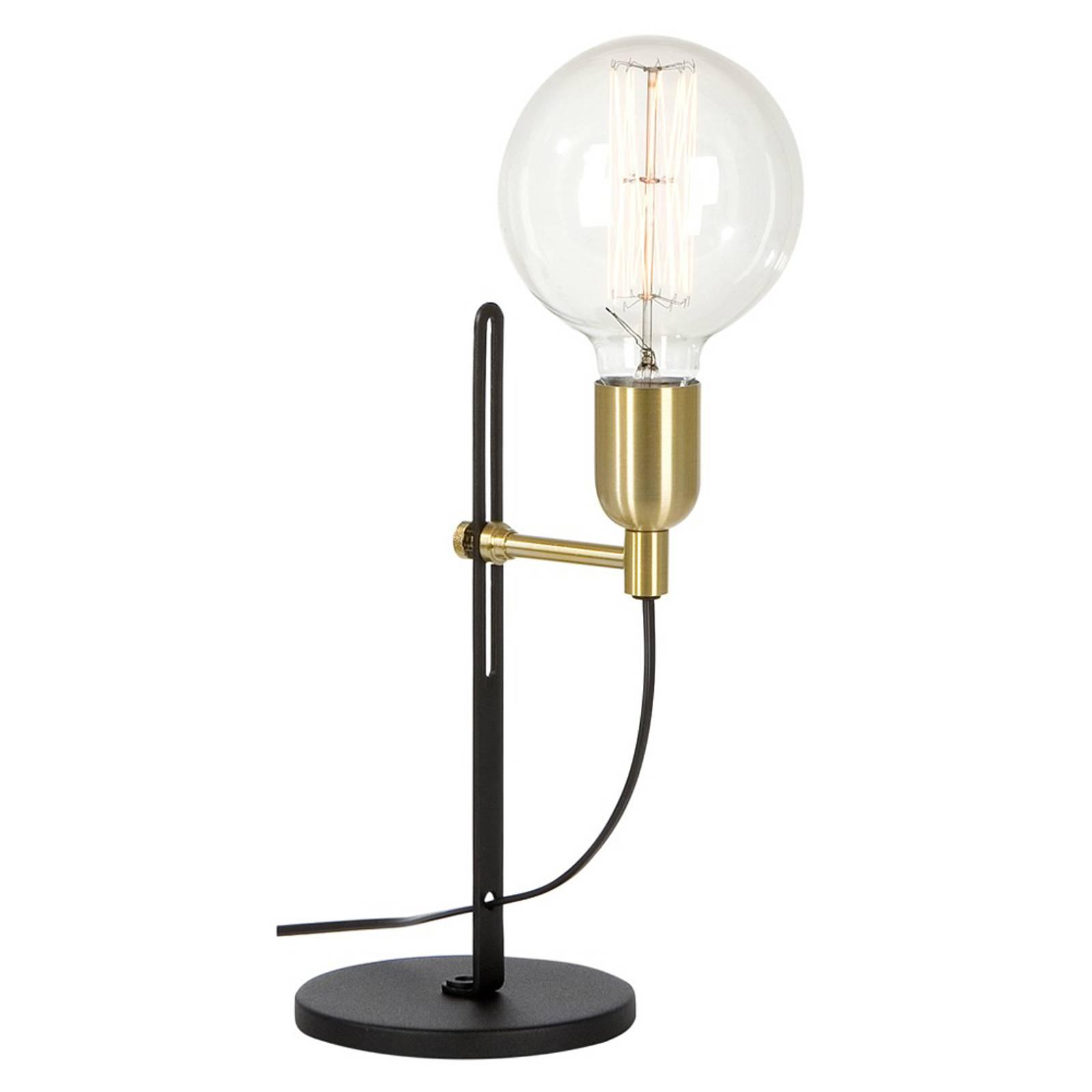 Tafellamp schap zwart/messing 1-lamp