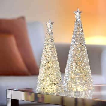 Árbol de Navidad acrílico Glamor - altura 33 cm