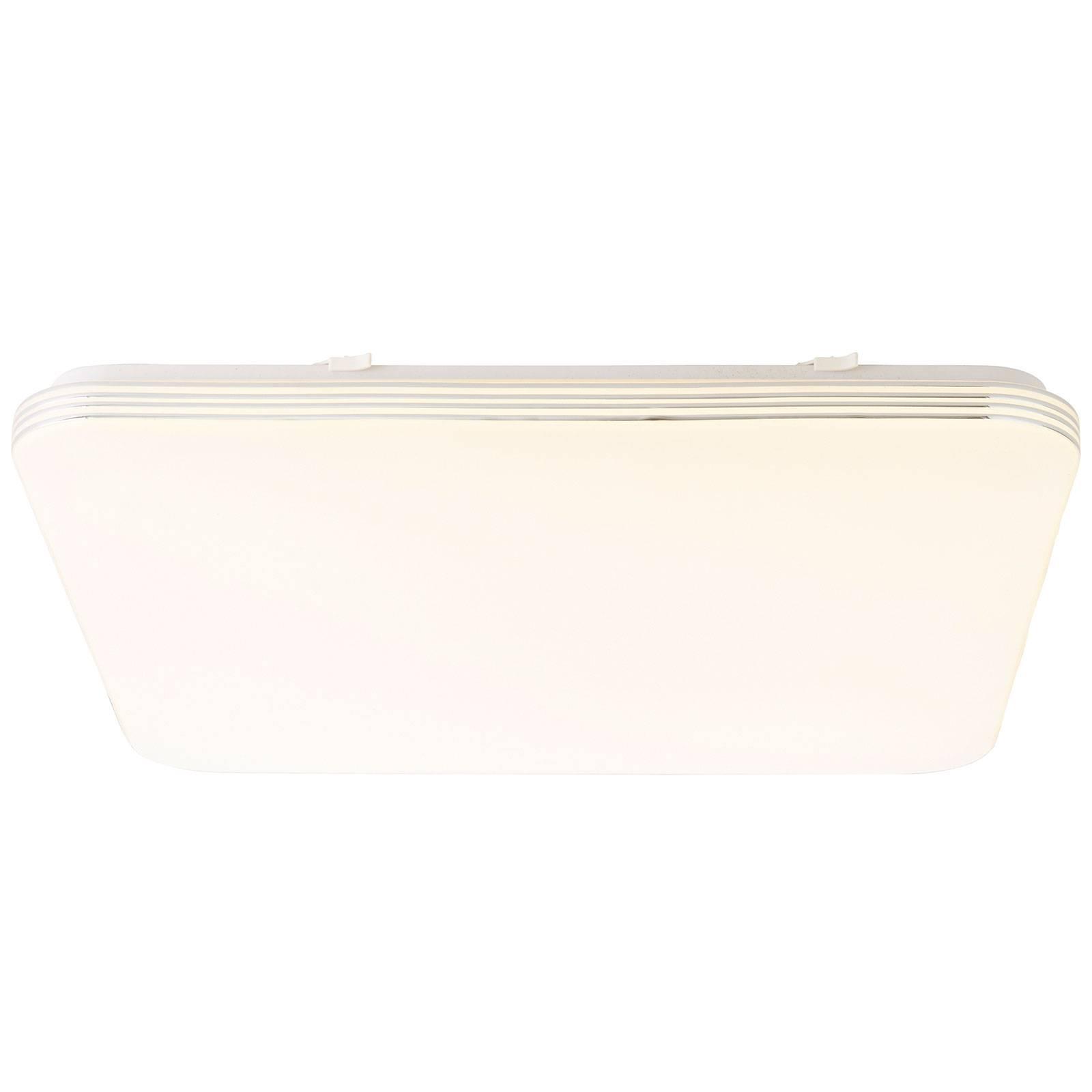 Plafonnier LED Ariella en blanc/chromé, 54x54cm