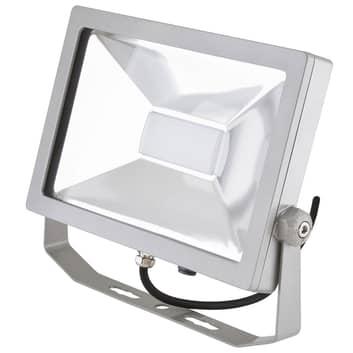 EVN LFA utendørs LED-spot IP65 sølv med kontakt