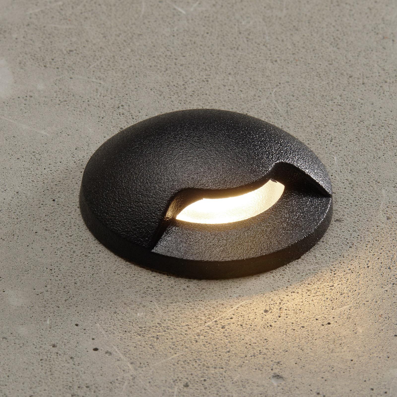 Teresa 1L indbygningslampe, sort/frostet 3.000 K
