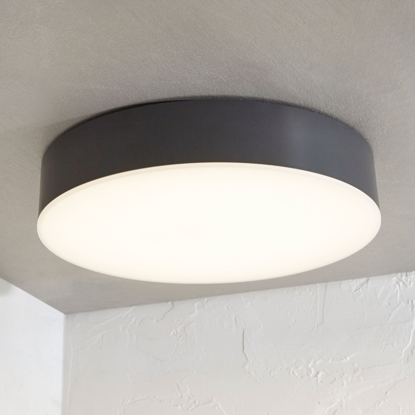 Plafonnier d'extérieur LED Lahja, IP65, gris foncé
