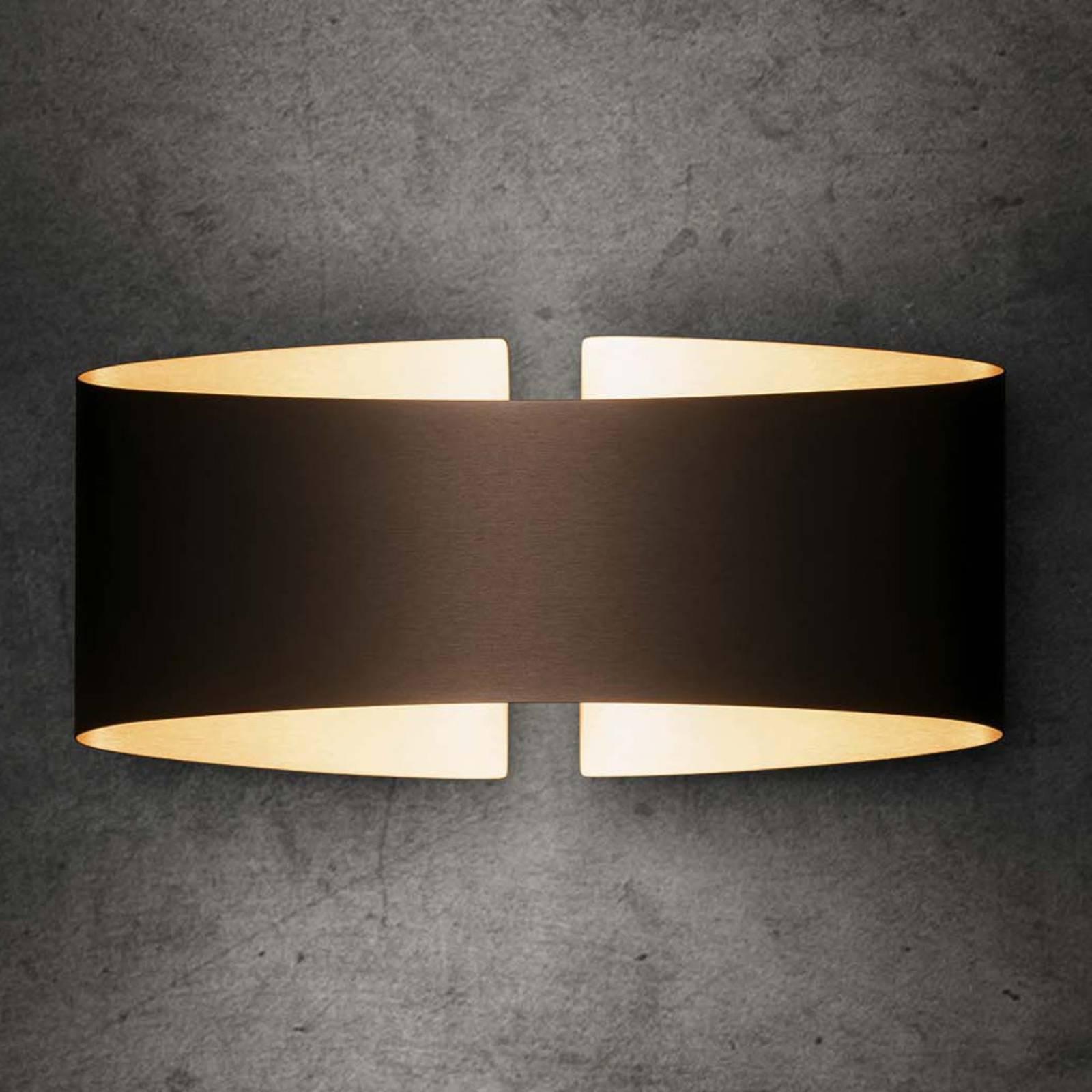 Holtkötter Voilà LED-Wandleuchte, fumé matt