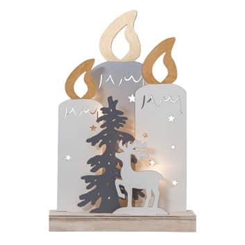 LED-dekorbelysning Fauna med ljus, träd och hjort