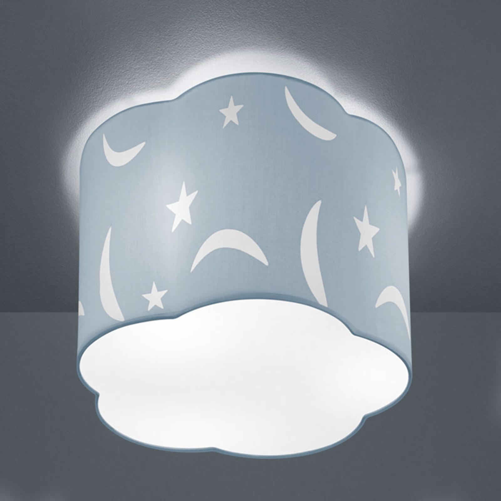 Taklampa Moony 25cm pastellblå