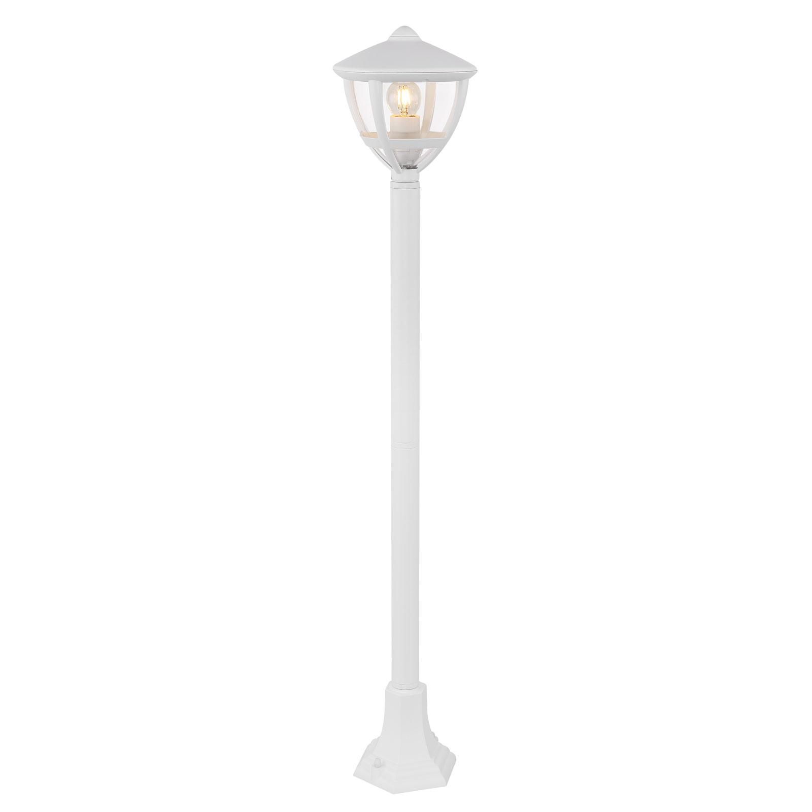 Słupek oświetleniowy Nollo w formie latarni, biały