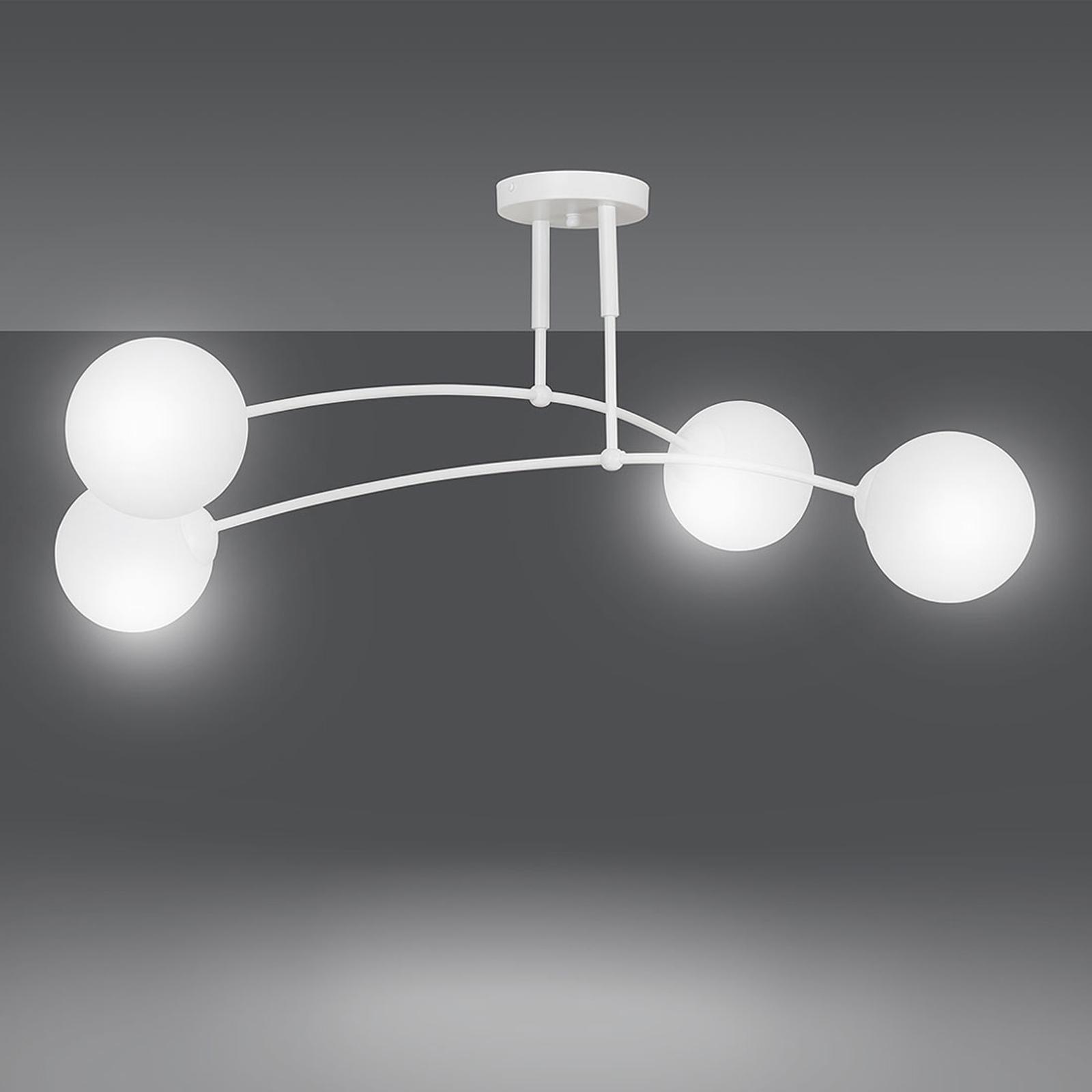 Plafondlamp Pregos 4, 4-lamps, wit