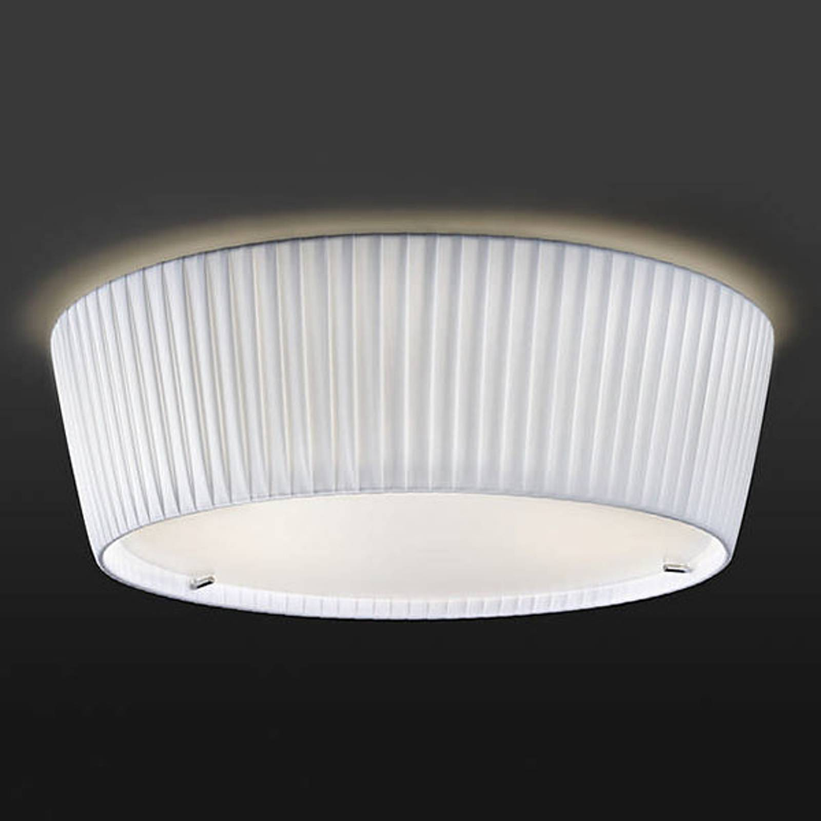 Bover Plafonet 43 - stoffen plafondlamp, Band wit
