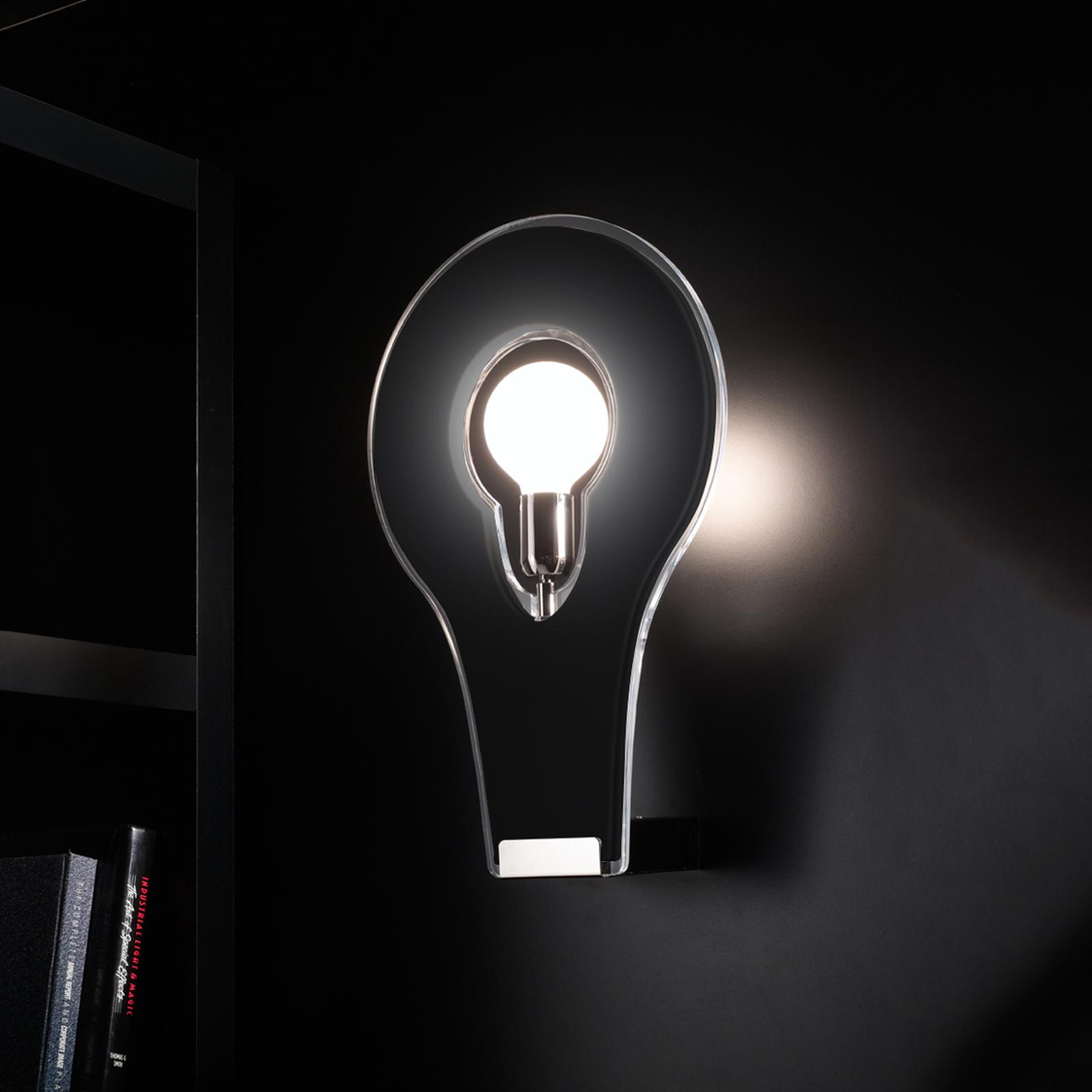 Exclusieve wandlamp Flat 29, zwart