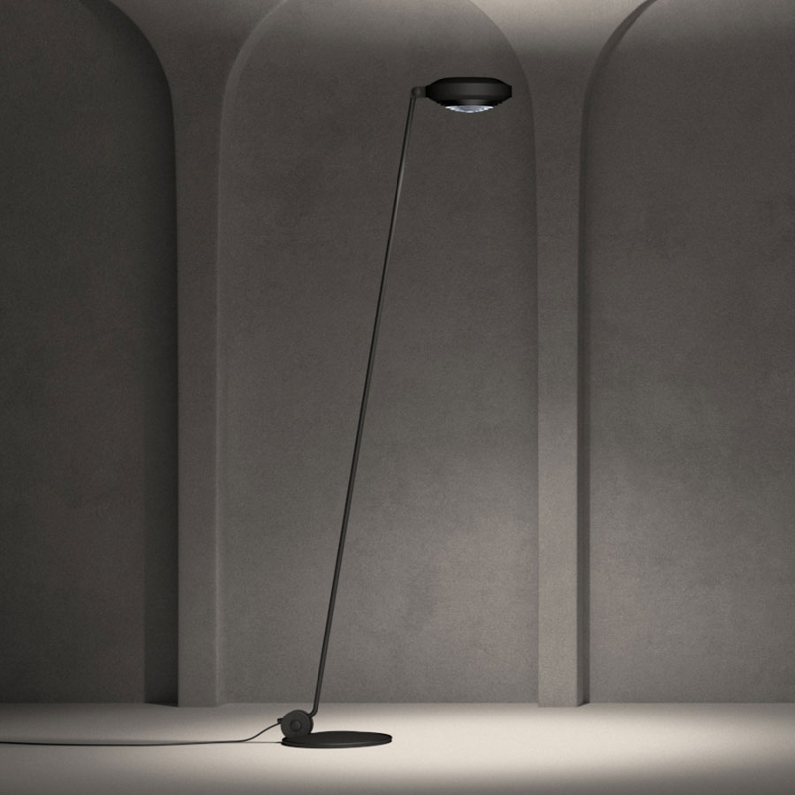 Lumina Elle 1 piantana LED H 180cm 3.000K nero