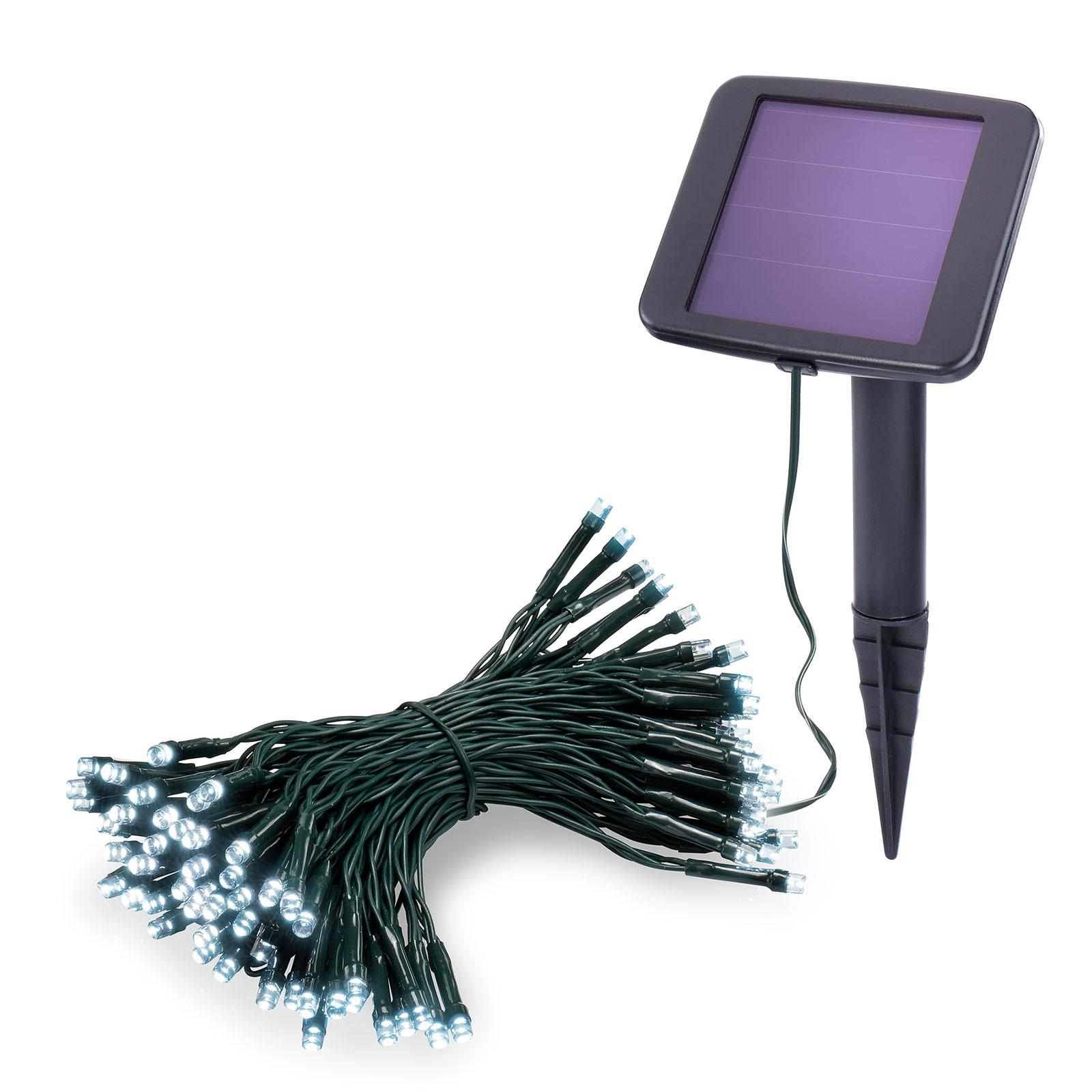 Premium LED-lyskæde med solcelle 6.000 K 100 LEDer