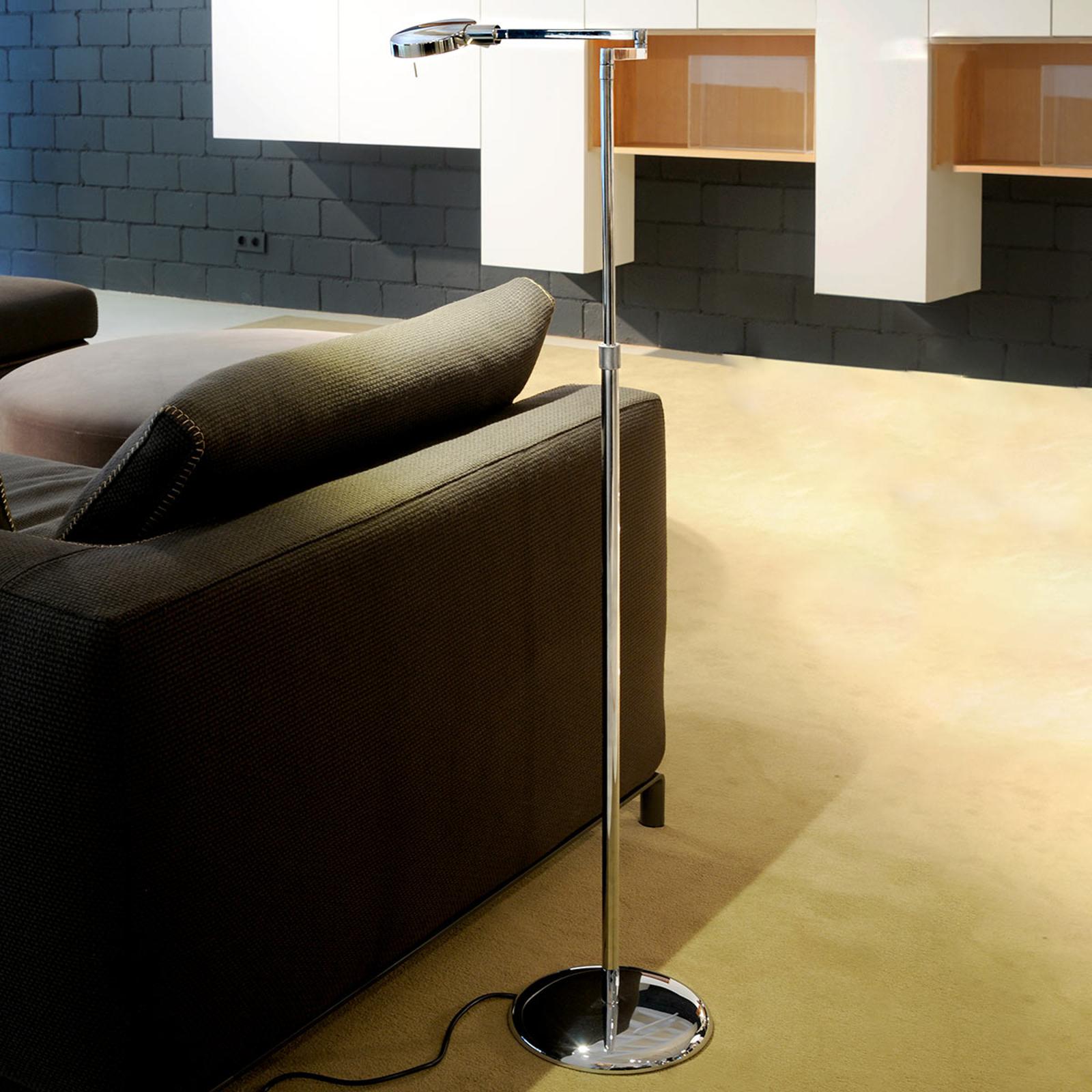 3-LED gulvlampe høydejusterbar 1 lys