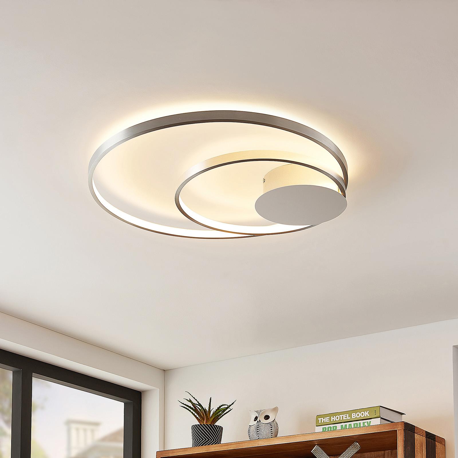 Lindby Nerwin LED stropní svítidlo, hliník/chrom