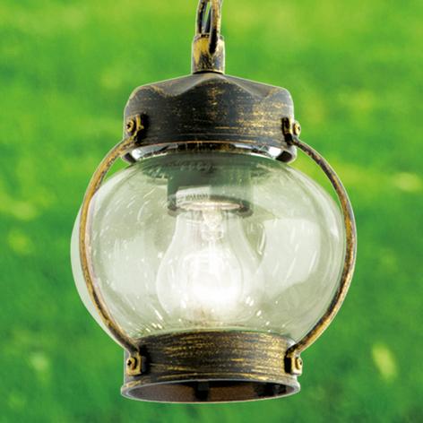 Lámp. colgante Margerite exterior cristal burbujas